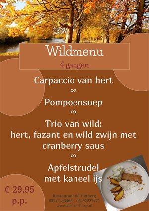 wild menu